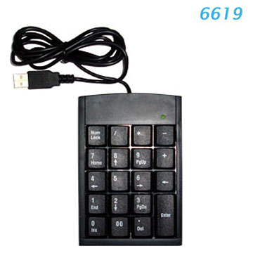 USB Dight Keyboard
