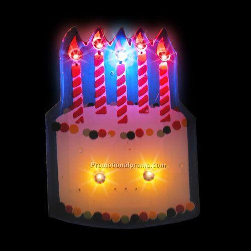 LED Light-Up Magnet - Birthday Cake China Wholesale