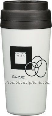 travel tumbler - 16 oz - white