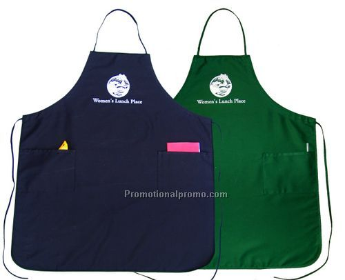 Adjustable Bib Apron - green