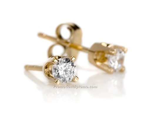 stud gold yellow ctw earrings diamond solid