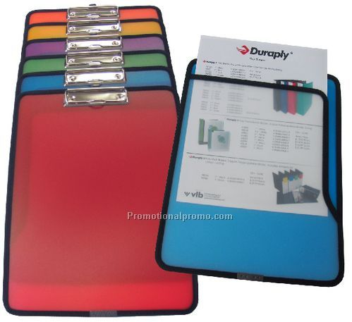 Frosted Coloured Clipboard with Pocket