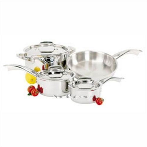 J.A.Henckels Classic Clad 7 Piece Cookware Set