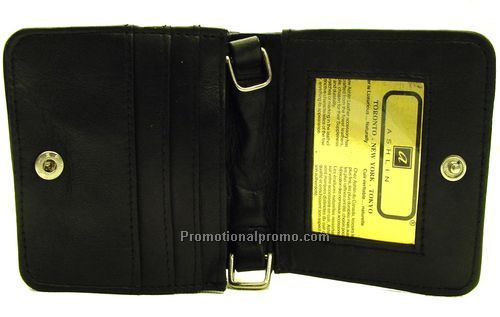 Ladies 5 inches Neck Wallet / Lambskin Napa / Black
