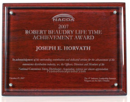 Piano Wood Award Plaque with Acrylic
