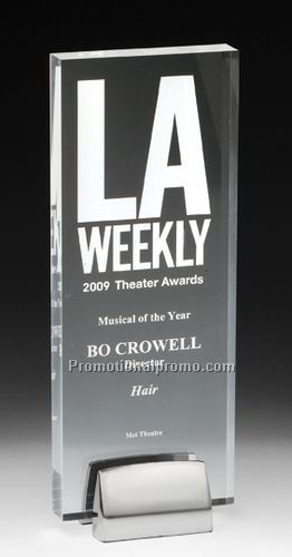 Tall Award with Chrome Base and Laser Imprint