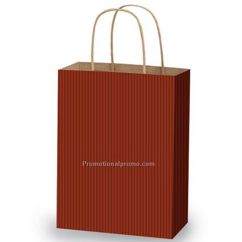 Bags - Tinted Kraft Shopping, Shadow Stripe, 8