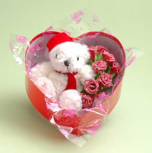Rose and bear for valentine 39 s day china wholesale vwr21479 for Buying roses on valentines day