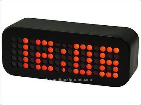 Alarm clock Jumbo red LED black...