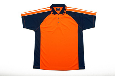 Hi vis polo with navy contrast china wholesale pah25807 for Wholesale high visibility shirts