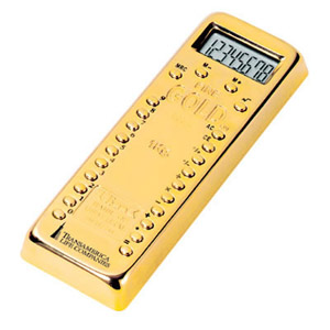 Gold Bar Calculater Paper Weight