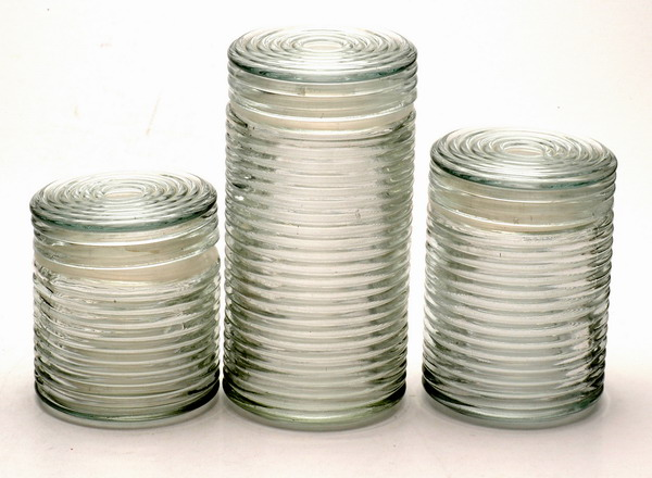 storage jar with glass lid