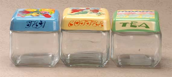glass containers with ceramic lids