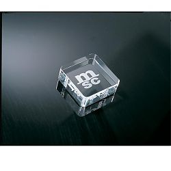 Rounded Square Paperweight C-674