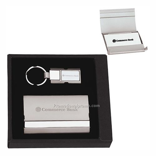Gift Set - Three-tone Key Holder/Cardholder