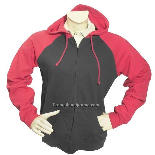Sweatshirt, Hooded - Bella Ladies Two Tone Raglan