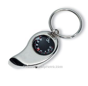 Key holder with thermometer