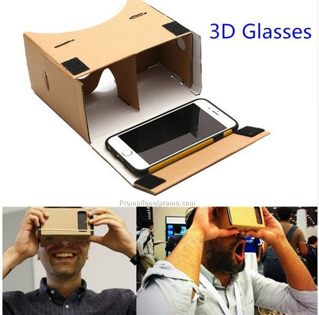 Whoelsale Customized Logo 3D Glasses Real Virtual Google Carboard Virtual Reality Movie Glasses