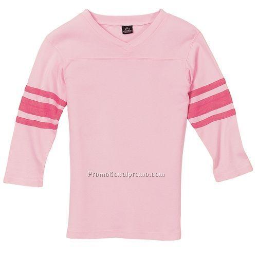 3 4 v neck shirt sport tek ladies vintage football for 100 cotton v neck t shirts wholesale