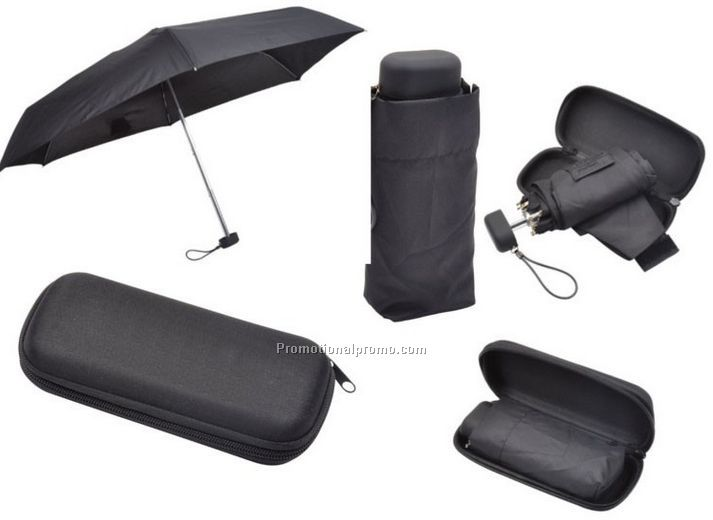Wholesale customized 5 fold mini umbrella with case, advertising outdoor umbrella