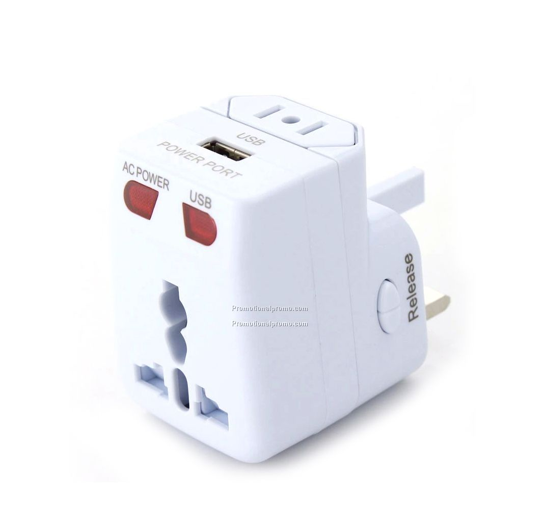 Universal adapter with USB port