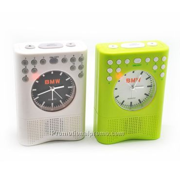 Green Musical alarm clock