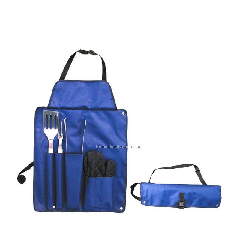 Foldable BBQ Apron Set