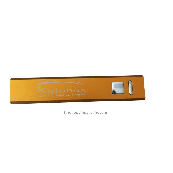 High Quality personalized custom-made Metal Mini Mobile Bank Power 2600 mAh Power bank