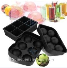Ice Cube Trays, Silicone Ice Ball Maker Easy Release Food Grade Flexible Stackable Safe Ice Cube Molds 6 Cavity for Whiskey etc