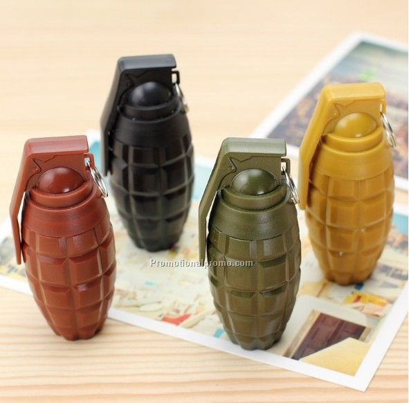 Grenade shape promotional telescopic ballpoint pen