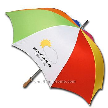 Promotional Vented, Windproof Umbrella Withstands Wind Gusts Up To
