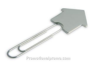 Bookmark. House shape. Metal