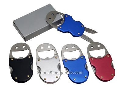smile face metal opener: Opener,knife and nail file 3-1