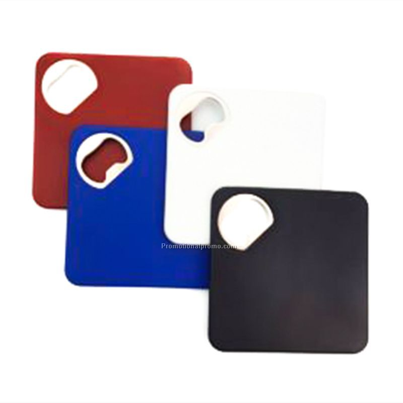 Plastic Coaster With Bottle Opener