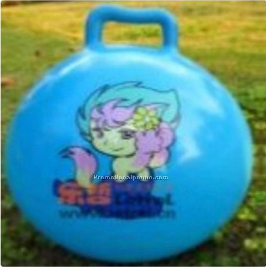 PVC Jumping Ball with Handle for Kids