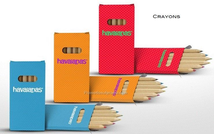 6 pcs Wooden Crayon Set