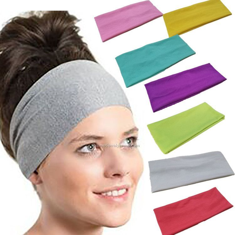 Pure color sport hair band