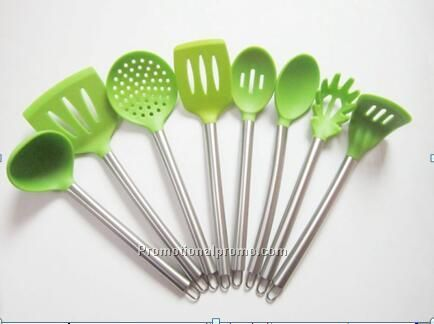 Food Grade High Quality 8pc Silicone Kitchen Utensils/Colorful Silicone Utensils Sets