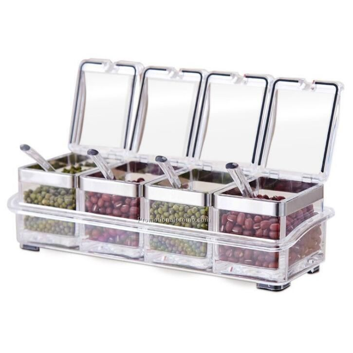 OME acrylic condiment boxes set