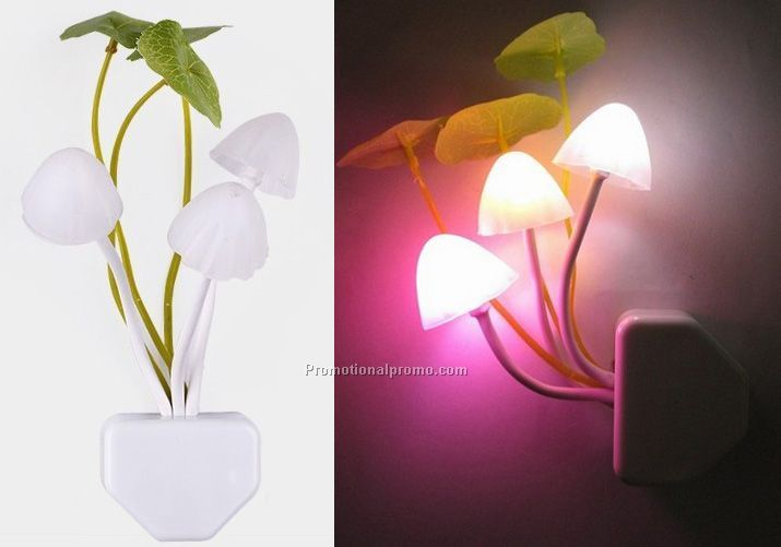 Night light with customized logo