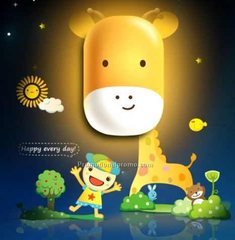 Light-operated 3D led cartoon light, smart wall lamp