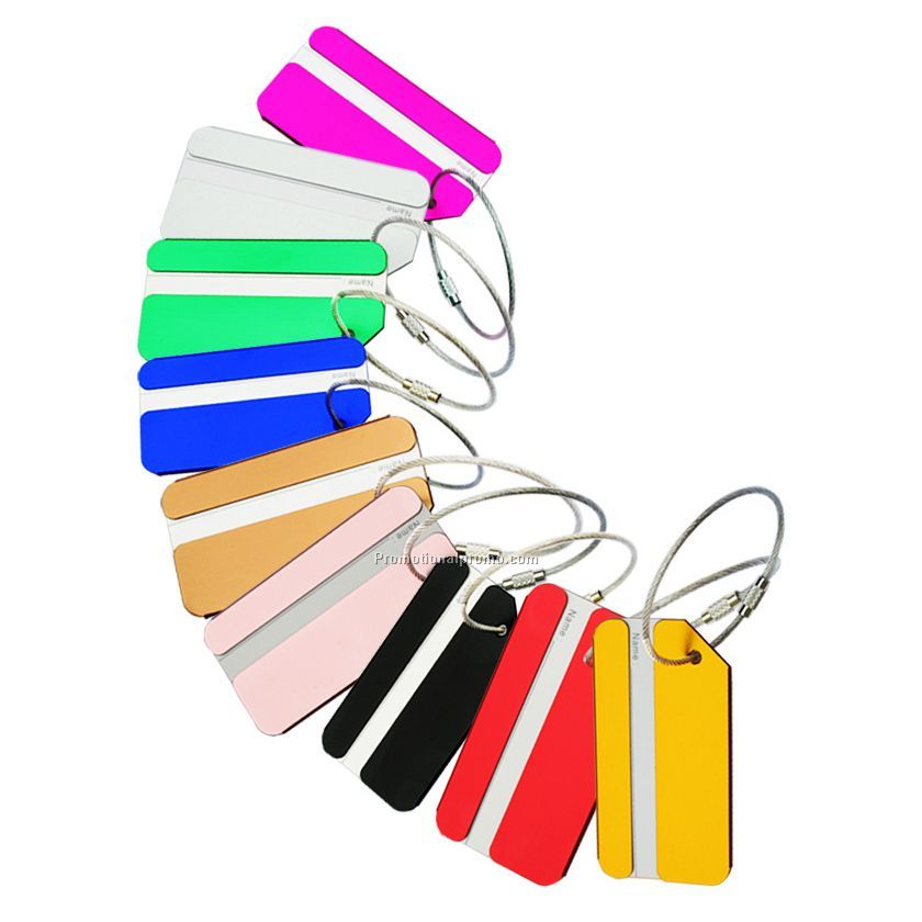 Colorful printed aluminum metal Luggage Tag