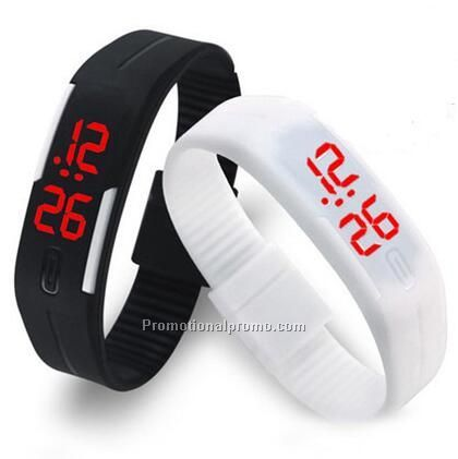 LED waterproof bracelet watch, smart watch bracelet, topoem gift