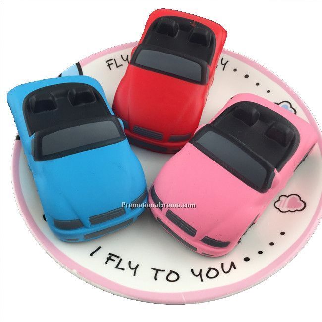 Multicolor Car Shape PU Stress ball Relief car toy