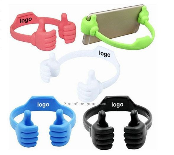Hot Sale Promotional Flexible Portable Thumb OK Silicone Mobile Phone Stand