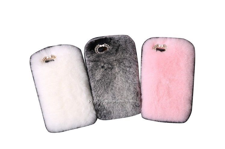 Luxury warm rabbit hair fur mobile phone case for iphone 6 or 6 Plus
