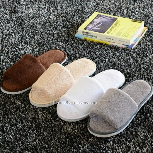 Antiskid Reusable hotel fleece slipper