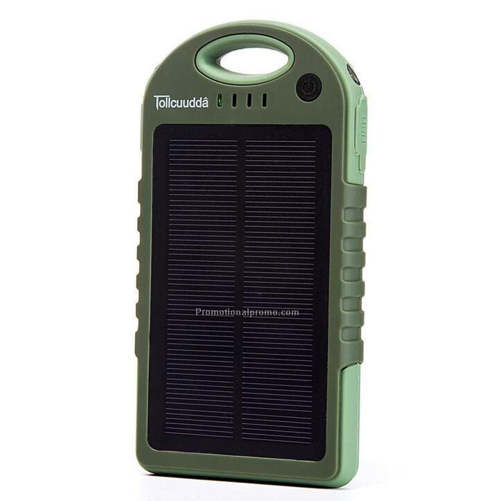 Creative dual port waterproof solar power bank charger