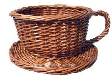 natural cup shape basket wicker basket