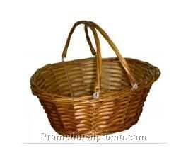 Handmade willow/wicker baskets with handle